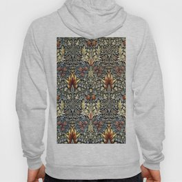 William Morris Indian Snakeshead Victorian Textile Floral Pattern Hoody