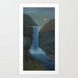 Crash and Flow Art Print