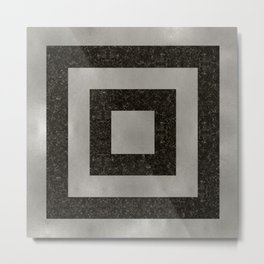 Silver Squares Metal Print