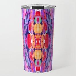 Ultraviolet Purple Sugarcane Pattern Travel Mug