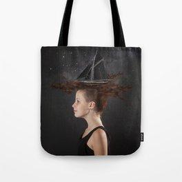 Sailing - Black Tote Bag