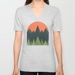 Flat mountains Unisex V-Neck