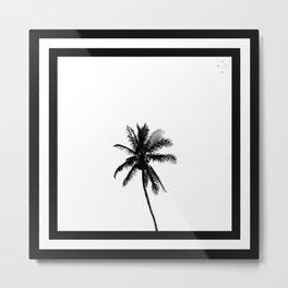 Palm Tree Squared Metal Print