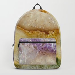 Striated Amethyst in Purple Gold & Green Backpack