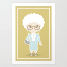 Girls in their Golden Years - Sophia Art Print