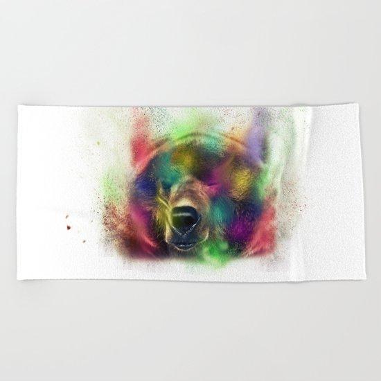 Bear pride Beach Towel