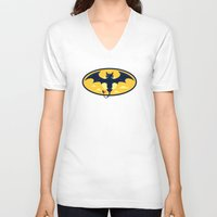 nightwing V-neck T-shirts featuring Nightwing by Steven Toang