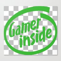 inside gaming Canvas Prints featuring Gamer iNSIDE by Blondie & Black Boy