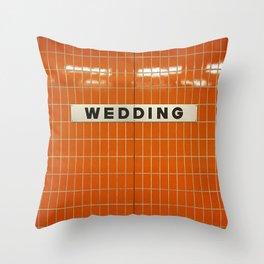Berlin U-Bahn Memories - Wedding Throw Pillow