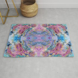 Watercolor abstraction. Rug