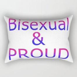 Bisexual and Proud (white bg) Rectangular Pillow