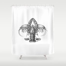 Craw de Lis Shower Curtain