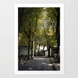 Cimetiere de Montmartre Art Print