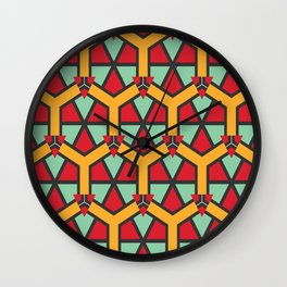 Honeycombs triangles and other shapes pattern Wall Clock