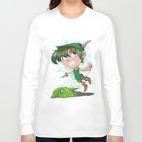 peter pan Long Sleeve T-shirts featuring Peter Pan by EY Cartoons