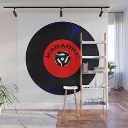 Karaoke 45 RPM Disc Wall Mural