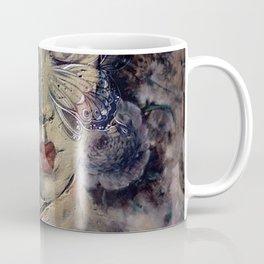 A WOMAN'S FACE WEARS MANY MASKS Coffee Mug