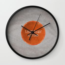 Legendary Lovers Wall Clock