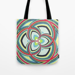 Spiral Rose Pattern A 3/4 Tote Bag