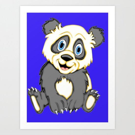 Smiling Panda Art Print