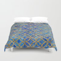 new year Duvet Covers featuring New year by Edling art
