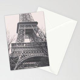Eiffel tower, Paris, black & white photo, b&w fine art, tour, city, landscape photography, France Stationery Cards