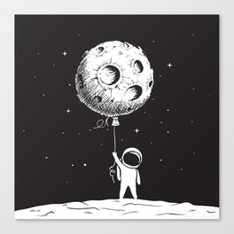 Fly Moon Canvas Print