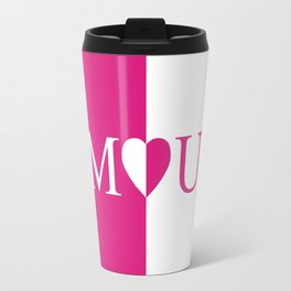 Amour Pink Design Travel Mug