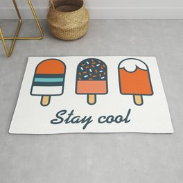 Stay cool popsicles in blue and orange  Rug