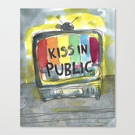 kiss in public Canvas Print