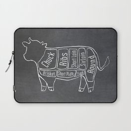 Beef Butcher Diagram (Cow Meat Chart) Laptop Sleeve