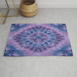 Purple Tie Dye Rug