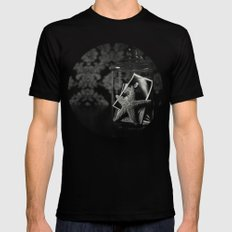 from a summer at the shore MEDIUM Mens Fitted Tee Black