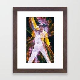 freddie overlay Framed Art Print