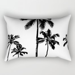 Monochrome tropical palms Rectangular Pillow