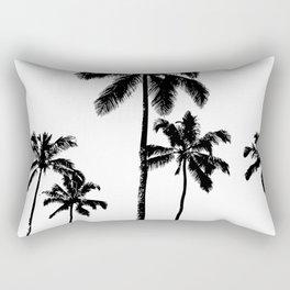 Monochrome tropical palms Rectangular Pillow