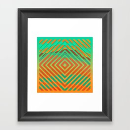 TOPOGRAPHY 2017-021 Framed Art Print