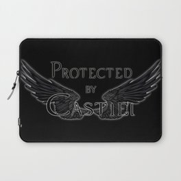 Protected by Castiel Black Wings Laptop Sleeve