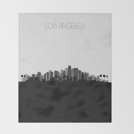 City Skylines: Los Angeles (Alternative) Throw Blanket
