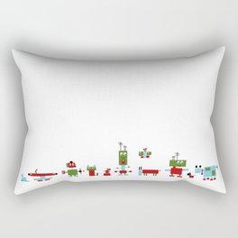 Robots-RGB Rectangular Pillow
