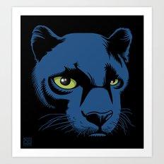 Black Panther Head Art Print