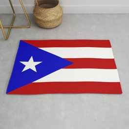 puerto rico country flag star Rug