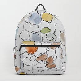 Watercolor graphic art, nature, trees, autumn, color Backpack