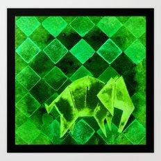 Elephant Origami 2 Art Print