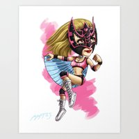 Lucha Libre Sexy Star Art Print