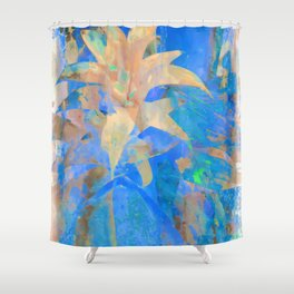 Exotic White, Abstract Flower, Floral Arrangement, Modern Art, Wall Art, Flowers Shower Curtain