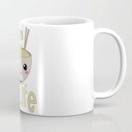 Kawaii Ramen Life Japanese Noodle Bowl Lover Coffee Mug