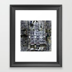 frames overlain like demography Framed Art Print