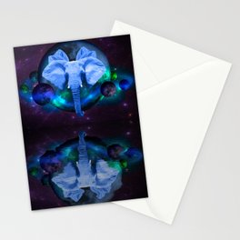 Elephants In Space Stationery Cards