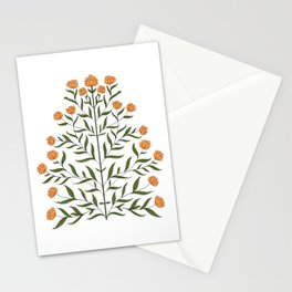 Indian Floral Motif Pattern - Marigold Stationery Cards